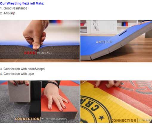 XPE Foam Wrestling Rollout Tatami Judo Mat